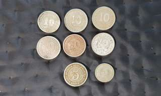 Straits Settlements Malaya 10c & 5c coins
