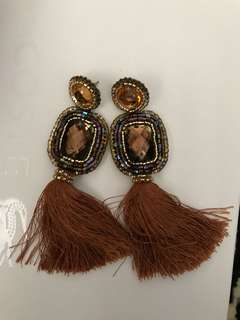 "REPRICED!! ""Cathy's Bags"" Tassel Statement Earrings"