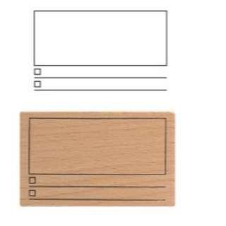 (PO) Bulletin Board Wooden Rubber Stamp