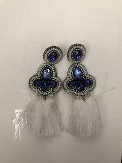 "REPRICED!! ""Cathy's Bags"" Tassel gem earrings"
