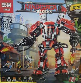 Restocks! NINJAGO Red Firemech Building Block Toy