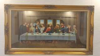 Vintage water colour painting of the last supper