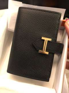 Hermes short card holder wallet