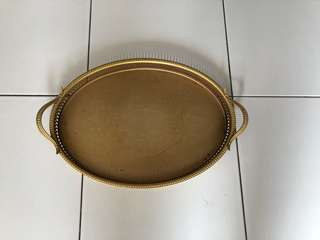 Gold plated antique tray