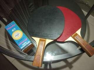 Ping Pong set komplit raket dan bola, hanya butuh meja