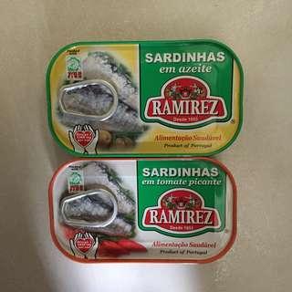 ramirez sardines Canes 沙丁魚 沙甸魚 罐頭