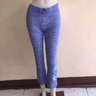 SO marble blue gartered string tie jogging pants fits small
