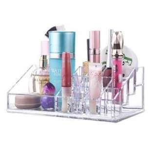 2-Tier Clear Acrylic Cosmetic Organizer Lipstick Holder Nail Polish Makeup Vanity Case