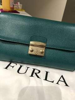 Furla Envelop Crossbody Bag in Green