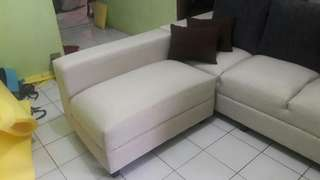 Sofa L cream ready paket lebaran