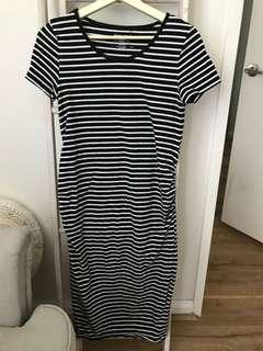 Target maternity dress striped blue white