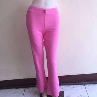 TAG CUT pink gartered jogging/zumba pants small