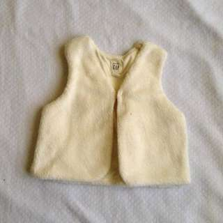 Gap Winter fur vest 6/12mos