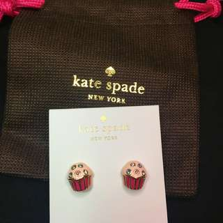 Kate Spade New York迷你可愛蛋糕耳環 Take The Cake Cupcake Stud Earrings