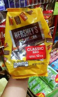 SALE  HERSHEYS MINITURES 340G @ 255.00