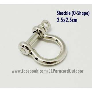 Shackle Stainless Steel U O shape Buckle Paracord Bracelet