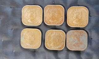 Malaya Queen Elizabeth 1c coins