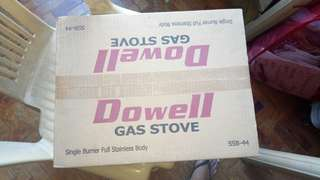 Dowell gas stove  single burner not yet opened