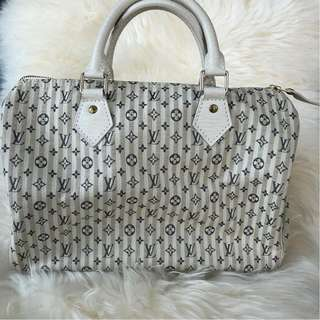 Louis Vuitton Mini Lin Speedy 30 Croi Bleu
