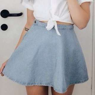 denim circle skater skirt #Ramadan50