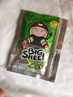 Tae Kae Noi Nori Original Import Thailand Isi 8 Pcs Snack Rumput Laut