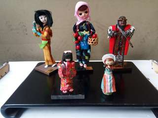 5 pcs Japanese display doll