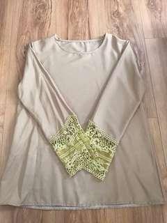 Women's Long-Sleeve Plain Style Blouse