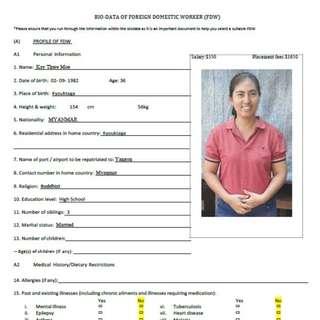 Kay Thwe Moe ( Ex S'pore suitable in eldercare )