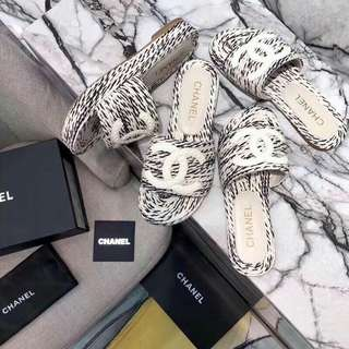Chanel slipon slippers