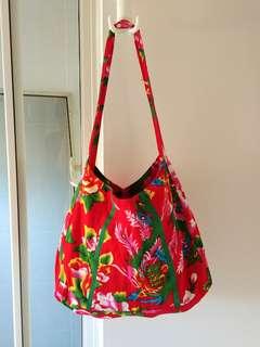 Vintage oriental floral bag
