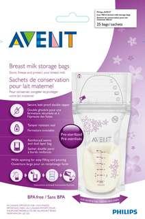 Philips Avent milk storage bags