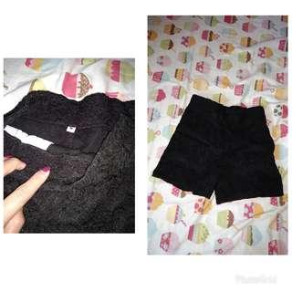 Pants hitam brukat