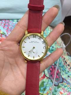 Marc Jacob inspired watch with red band