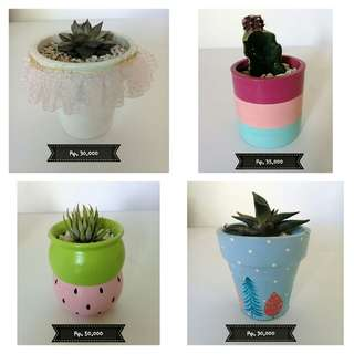 Kaktus pot motif
