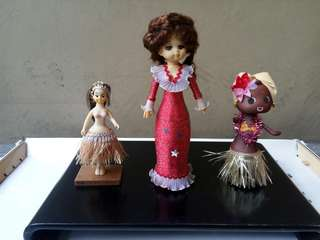 3 Pcs Japanese dolls with moving parts from japan