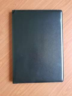 Menu Folder (Black Synthetic Leather)