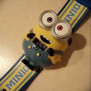 3D minions wrist watch