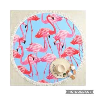 Flamingo Beach Blanket 160cm