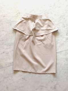 GBYSS Beige pencil skirt