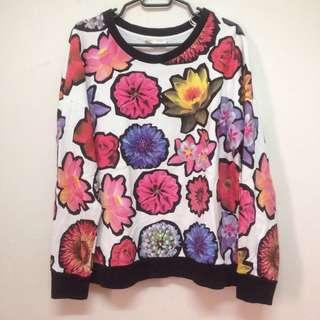 Zara Floral Printed Sweatshirt