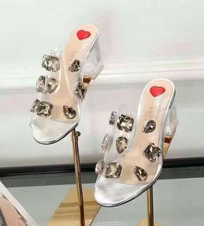 Gucci glass block heels