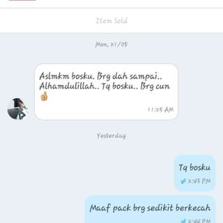 Feedback customer💪👍👍