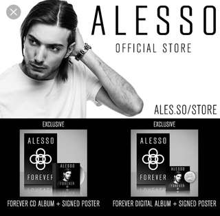 Alesso Signed poster and CD