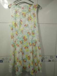 🚚 日貨 高單價 超甜美 網紗 雨傘圖騰 連身洋裝 無袖洋裝