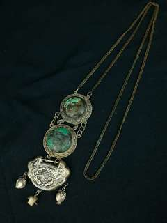 清代 綠松石如意鎖頸鍊
