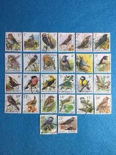 Belgium Birds Definitives 26 Used