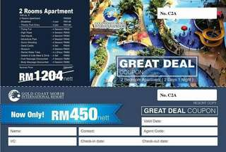 VOUCHER GOLD COAST MORIB 2 BEDROOM
