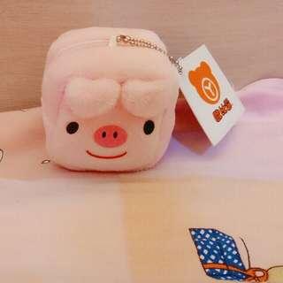 🚚 豬豬吊飾錢包