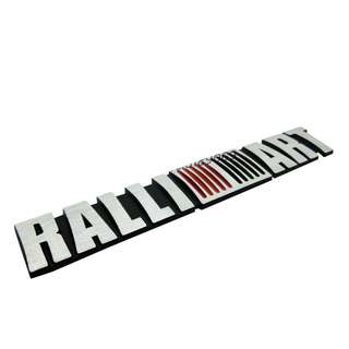 3D Metal Car RALLIART Logo Badge Emblem Decal Decoration Sticker For Mitsubishi