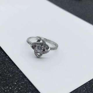 香港7度C純銀飾-風車鑽戒指